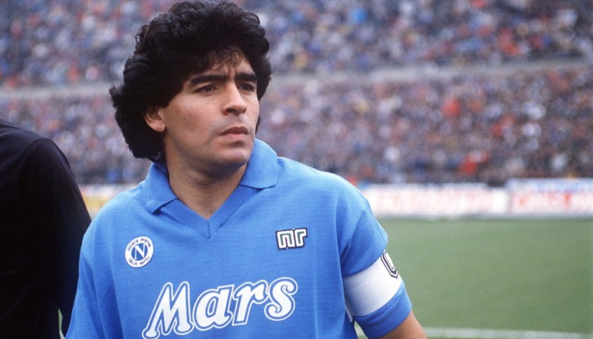 Maradona's Signed Match-Issued/Worn Napoli Shirt, 1988/89