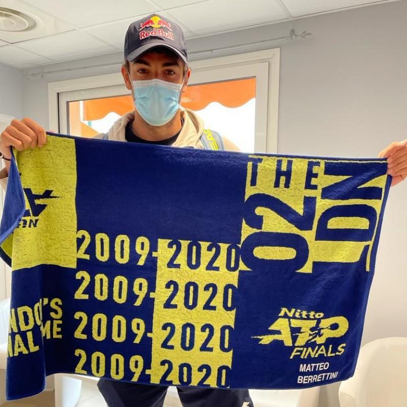 Matteo Berrettini Towel, ATP Finals 2020
