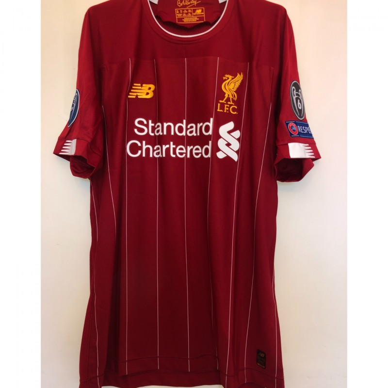 Firmino's Liverpool Match-issued Shirt, UCL 2019/20 + Pass