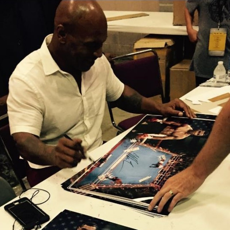 Limited Edition Book Signed by Boxer Mike Tyson