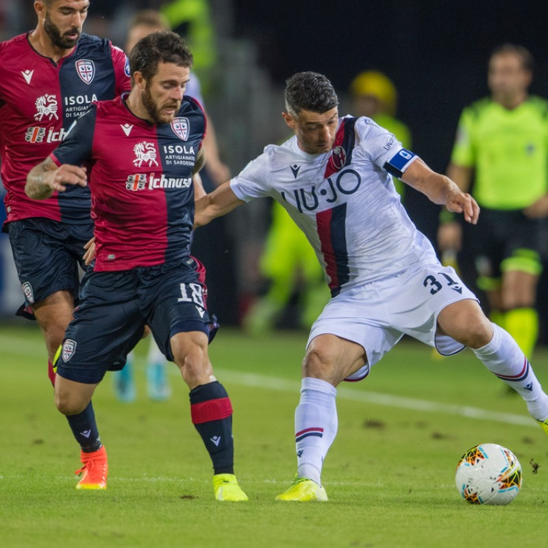 Nandez's Worn and Unwashed Shirt, Cagliari-Bologna 2019