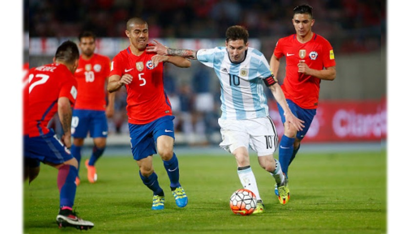 Leo Messi's Worn Shirt and Boots, Chile-Argentina 2016