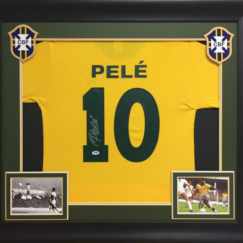 Pelé Signed Framed Jersey