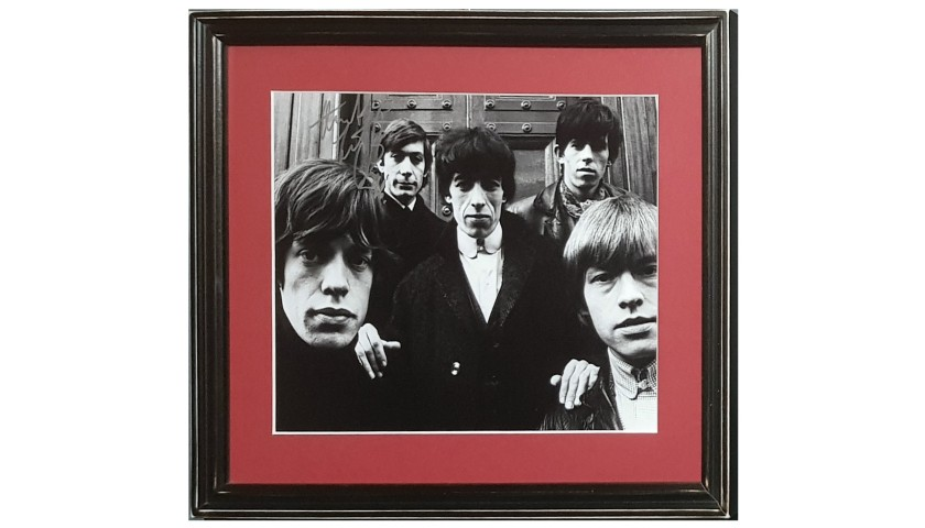 Rolling Stones Photograph Signed by Drummer Charlie Watts