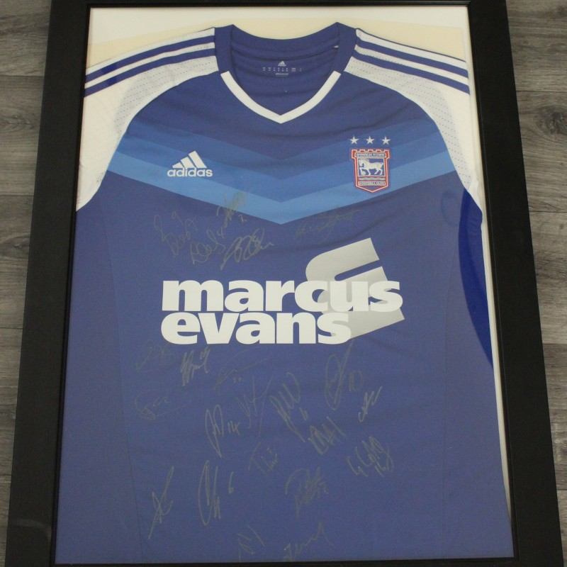 Official Ipswich Town FC Home Shirt Signed by the Team