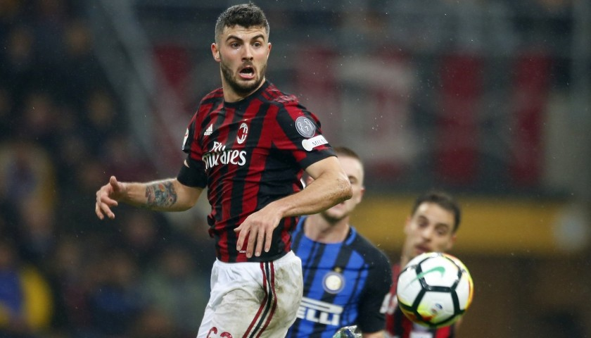 a57c809a7096a8 Cutrone's Unwashed Match-Worn Milan-Inter Shirt with Special Patch -  CharityStars