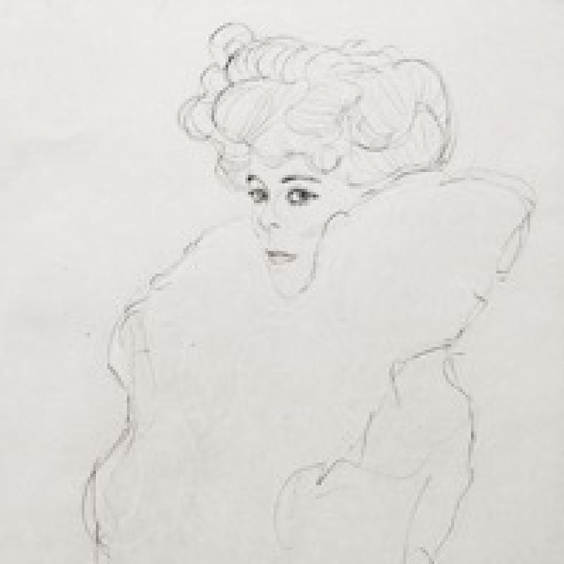 """""""Claudelle"""" by Gustav Klimt"""