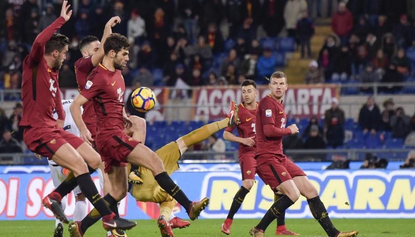 Strootman's Match-Worn Roma-Cagliari Shirt, Special Sponsor Telethon