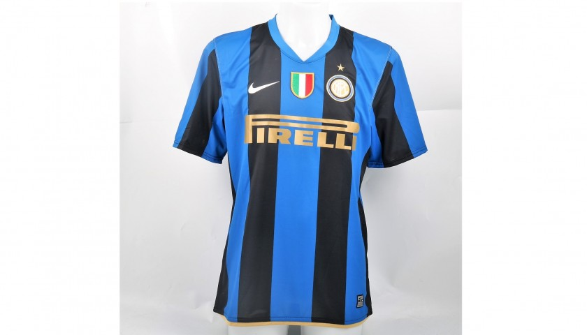 Mancini's Signed Inter Shirt, Issued/Worn 2008/09