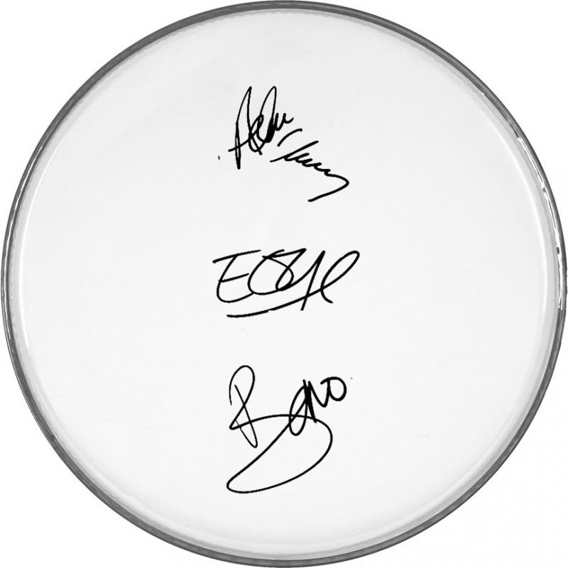 U2 Drumhead with Printed Signatures