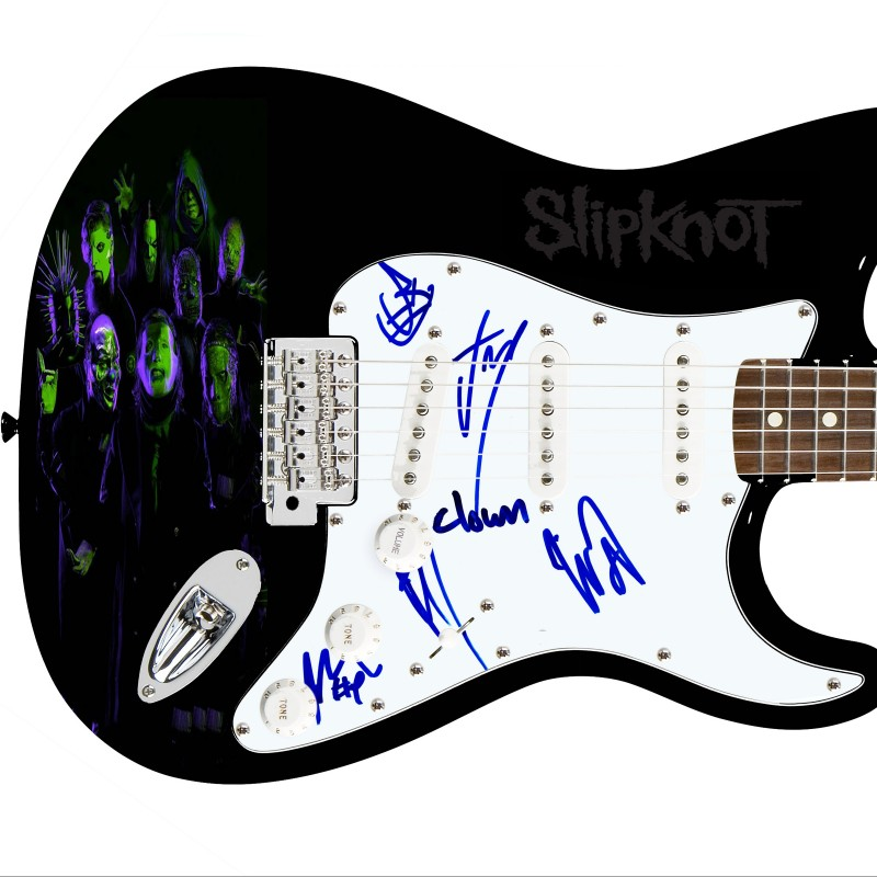 Slipknot Hand Signed Guitar