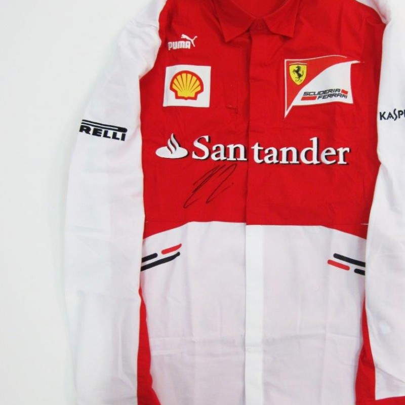 Ferrari shirt signed by Raikkonen