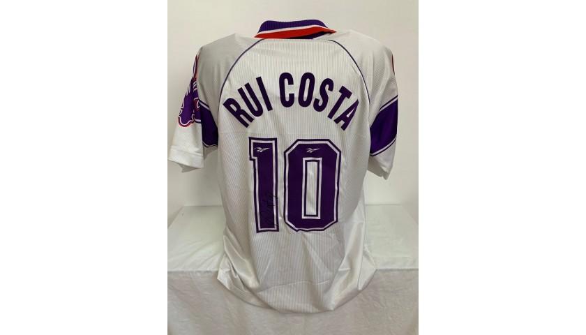 Rui Costa Official Fiorentina Signed Shirt, 1996/97