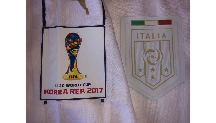 Pessina's Italy U20 Shirt, World Cup 2017