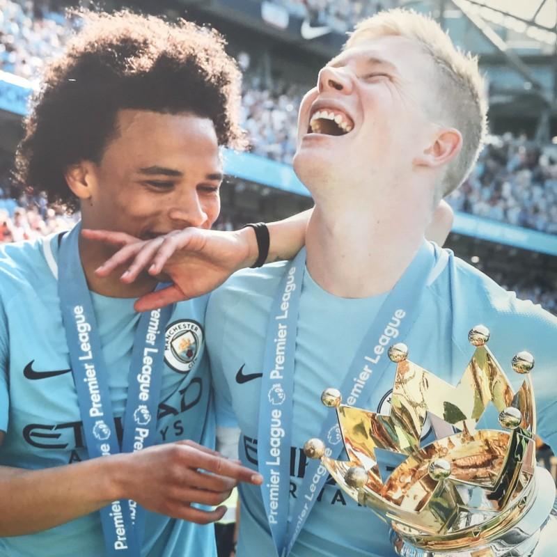Manchester City's Kevin De Bruyne & Leroy Sane Unique Picture