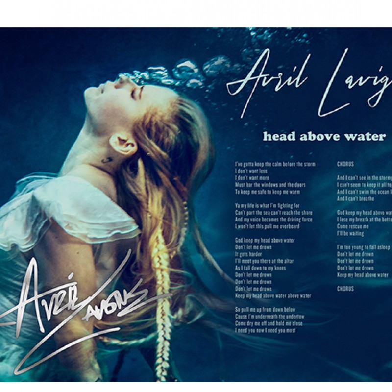 """Head Above Water"" Hand Signed Lyric Sheet"