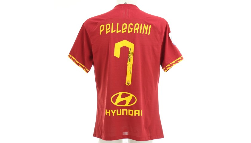 Pellegrini's Worn and Signed Shirt, Roma-SPAL 2019
