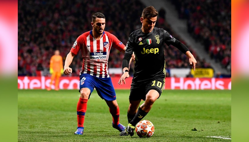 Koke's Atletico Madrid Match-Issue/Worn Shirt, UCL 2018/19