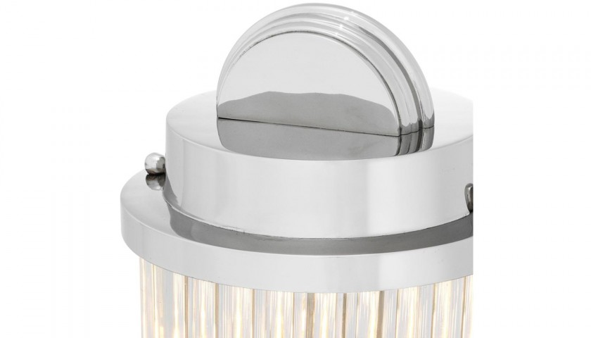 Carlyle Nickel Table Lamp by Eichholtz