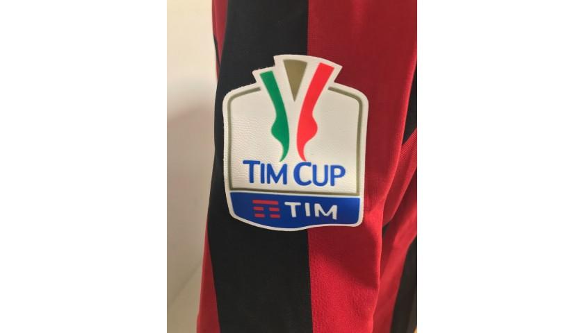 Suso's Milan Match Shirt, TIM Cup 2017/18