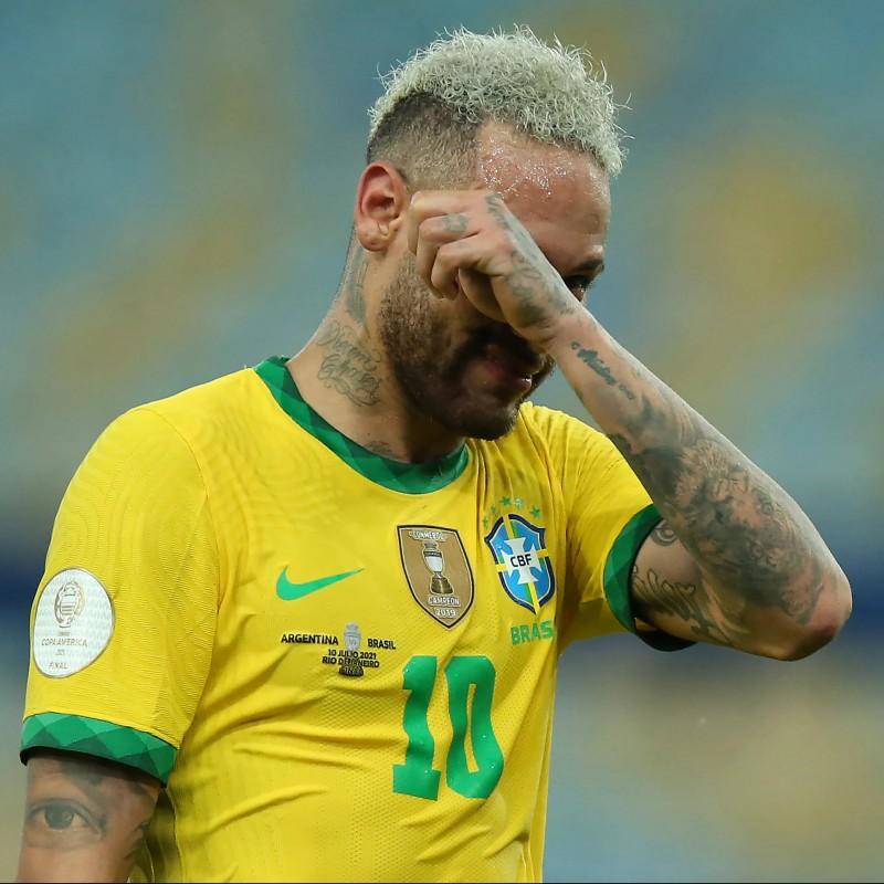 Neymar's Brazil Match Shirt, Copa America 2021 Final
