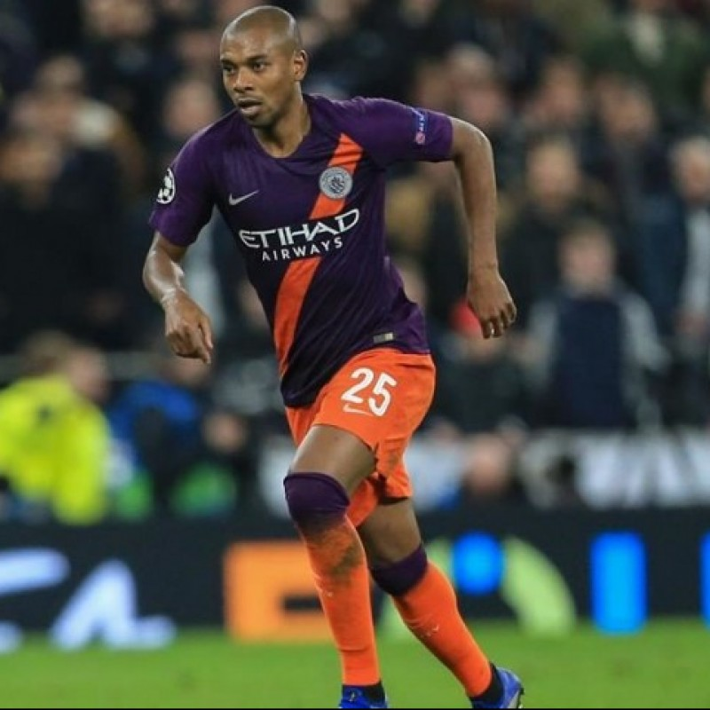 Fernandinho's Manchester City Match Shorts, Champions League 2018/19