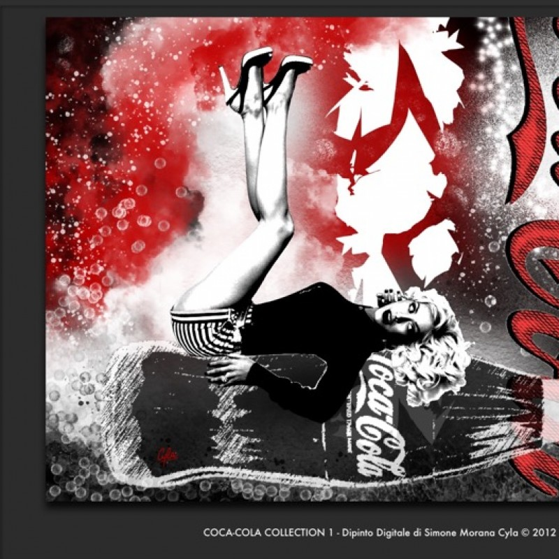 "Simone Morana Cyla ""Coca-Cola collection 1"" - digital painting - 60x44 cm"