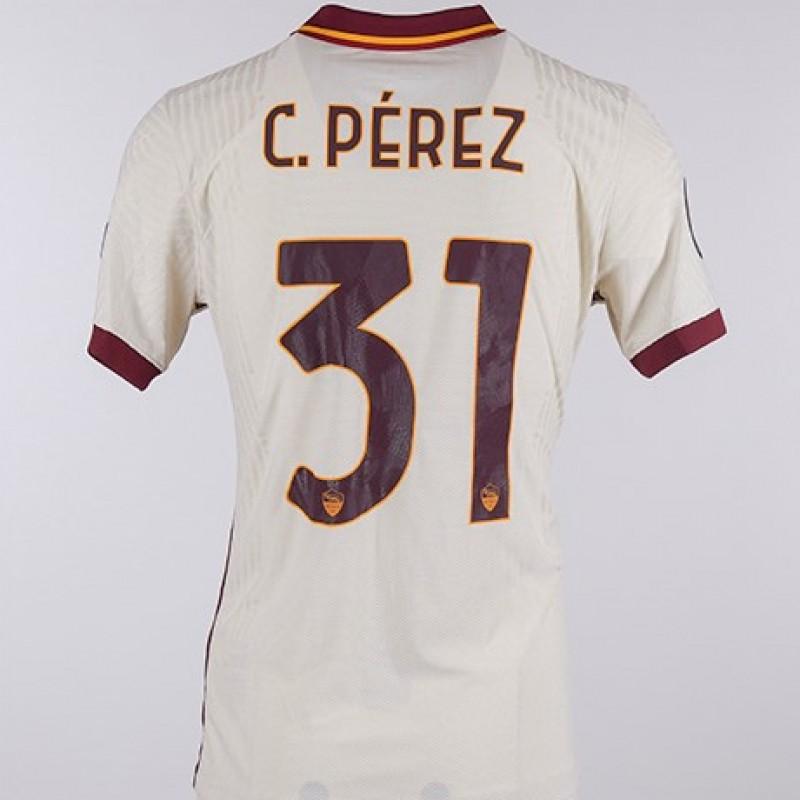 Carles Perez's Worn Shirt, Cluj-Roma, EL 20/21