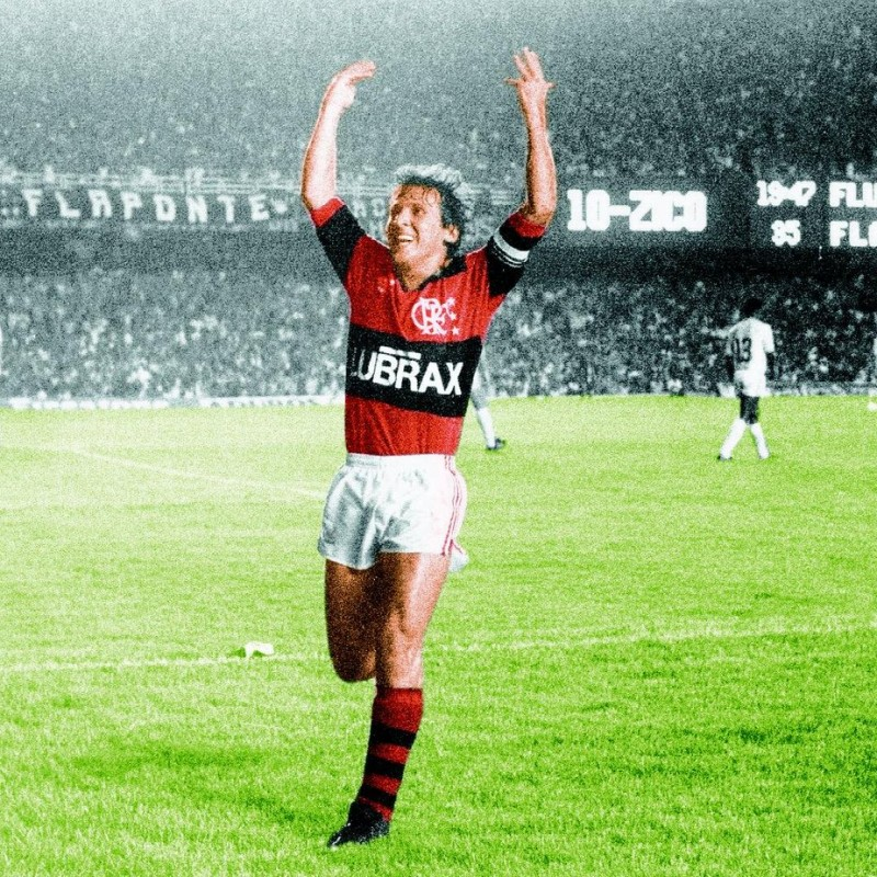 Zico's Flamengo Worn Shirt, 1980s