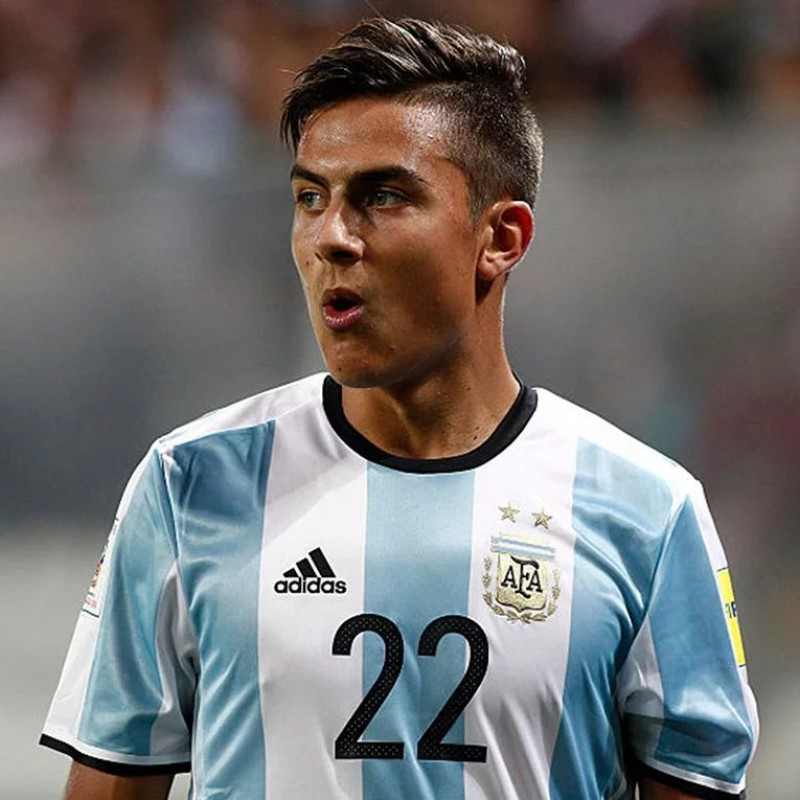 Dybala's Argentina Match Shirt, World Cup 2018 Qualifiers