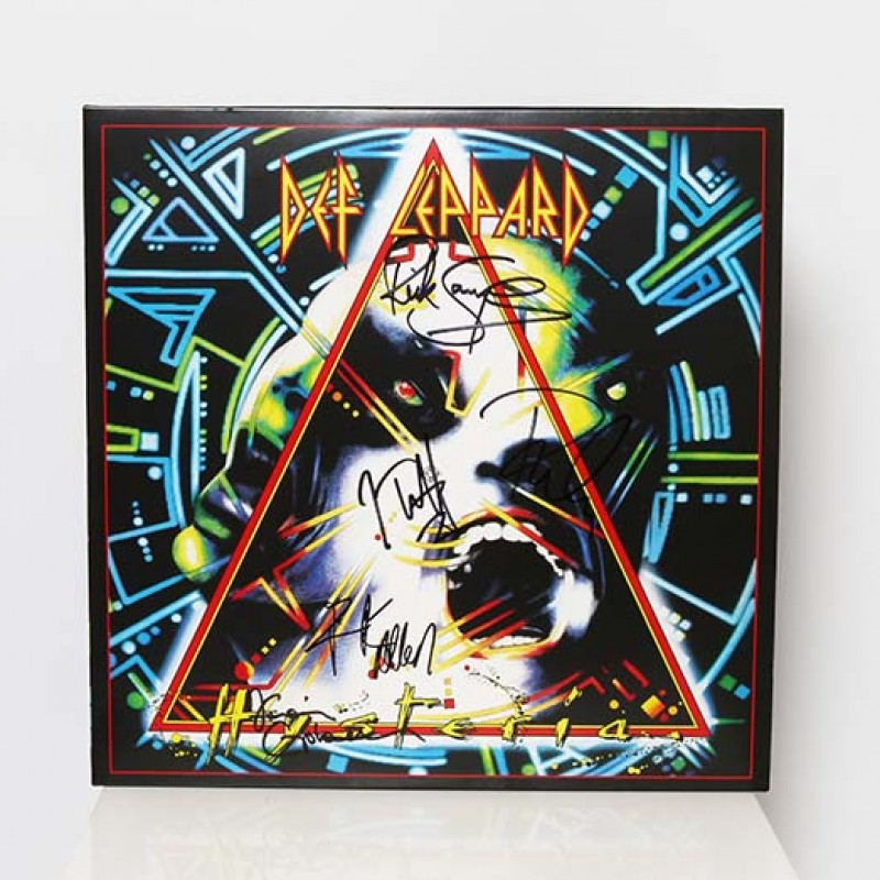 Def Leppard signed 'Hysteria' Vinyl