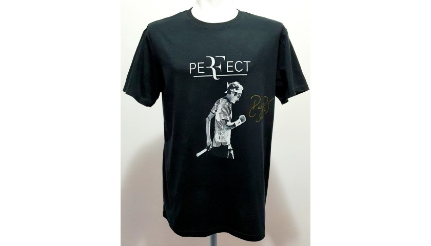 Roger Federer Official Signed T-Shirt