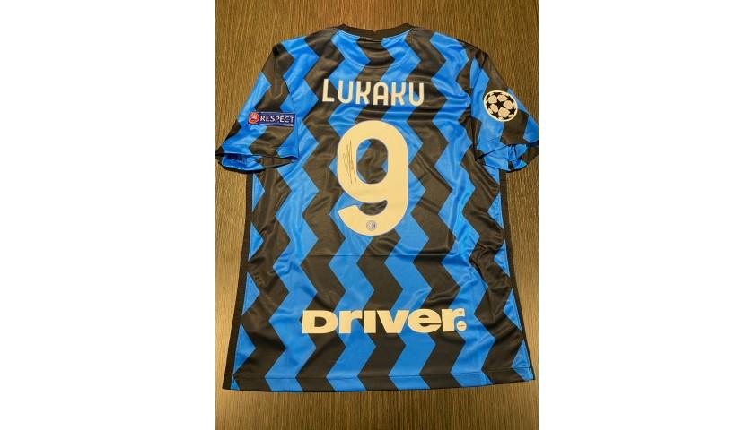 Lukaku's Official Inter Signed Shirt, 2020/21