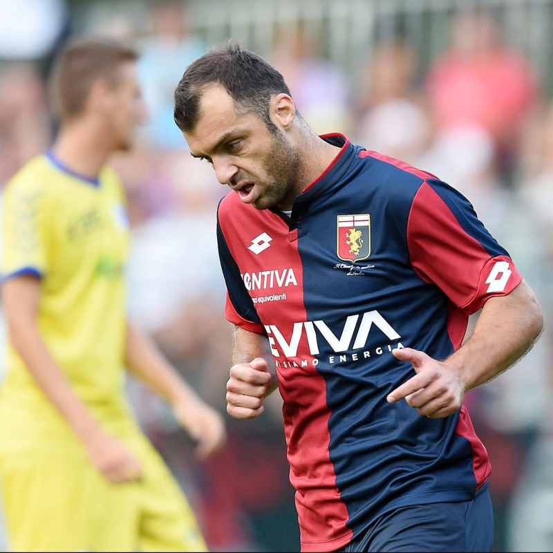 Pandev's Match-Issued and Signed Genoa Shirt, Serie A 2017/18