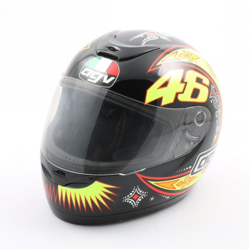 Replica casco AGV autografato da Valentino Rossi