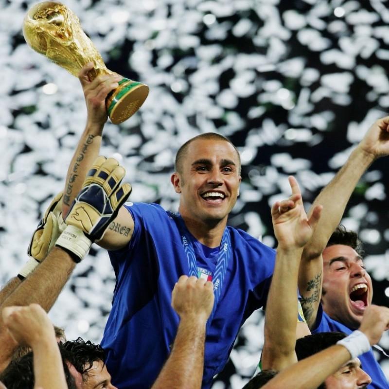 Cannavaro's Italy Match Shirt, Euro 2008 Qualifiers
