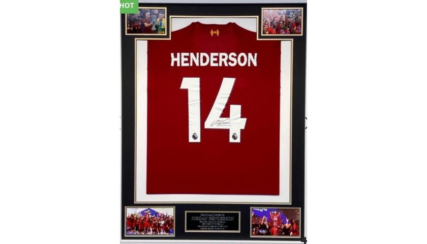 Jordan Henderson Liverpool Signed & Framed Shirt
