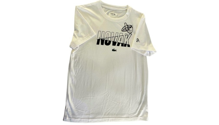 Lacoste T Shirt Signed By Novak Djokovic Charitystars