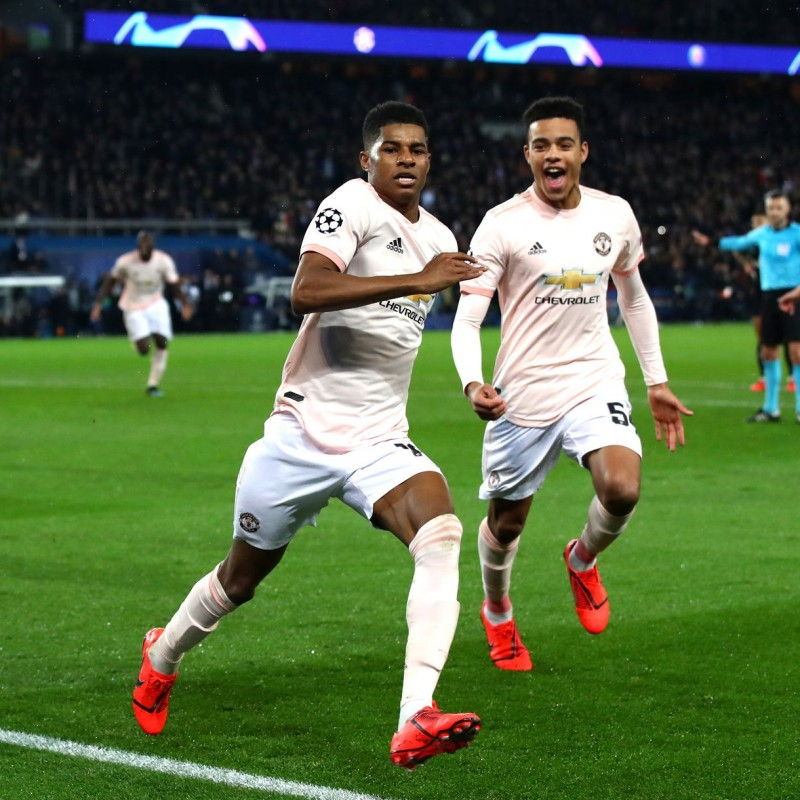 Rashford's Match-Issue Shirt, PSG-Manchester United 2019