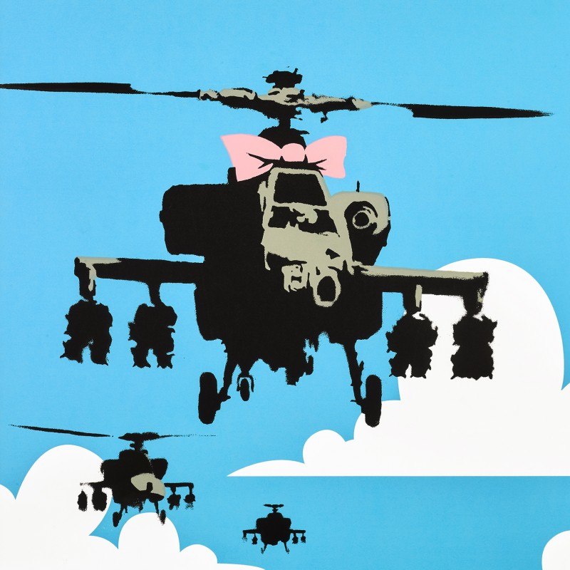 """Happy Choppers"" - Original Banksy Print"