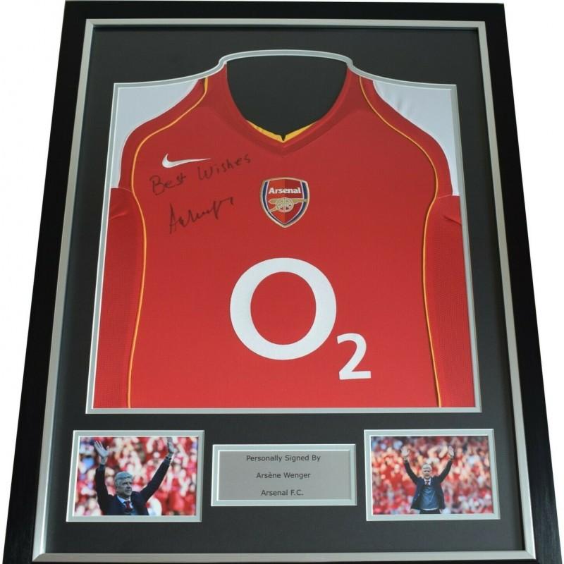 Arsene Wenger Signed & Framed Arsenal Shirt