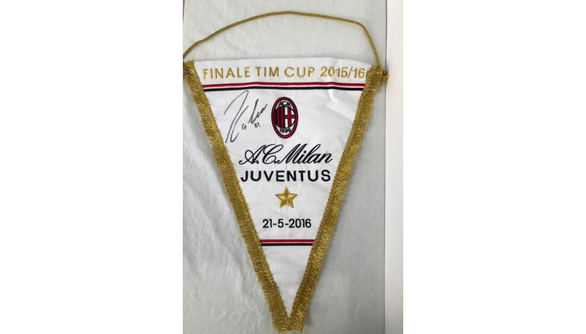 Official Pennant, Milan-Juventus TIM Cup 2015/16 - Signed by Dybala