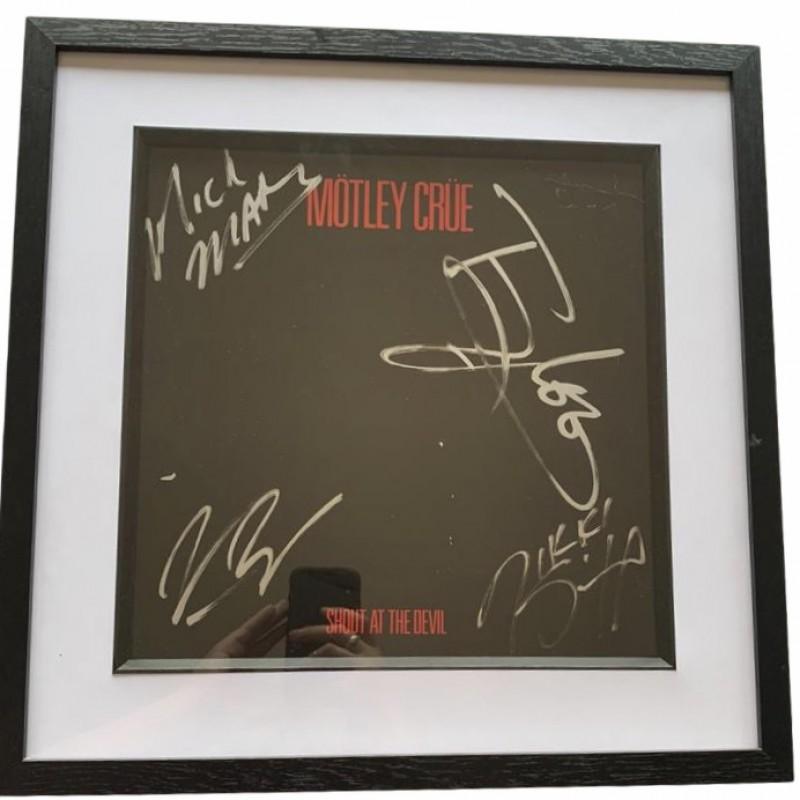 Motley Crue Fully Signed Framed Shout At The Devil Vinyl