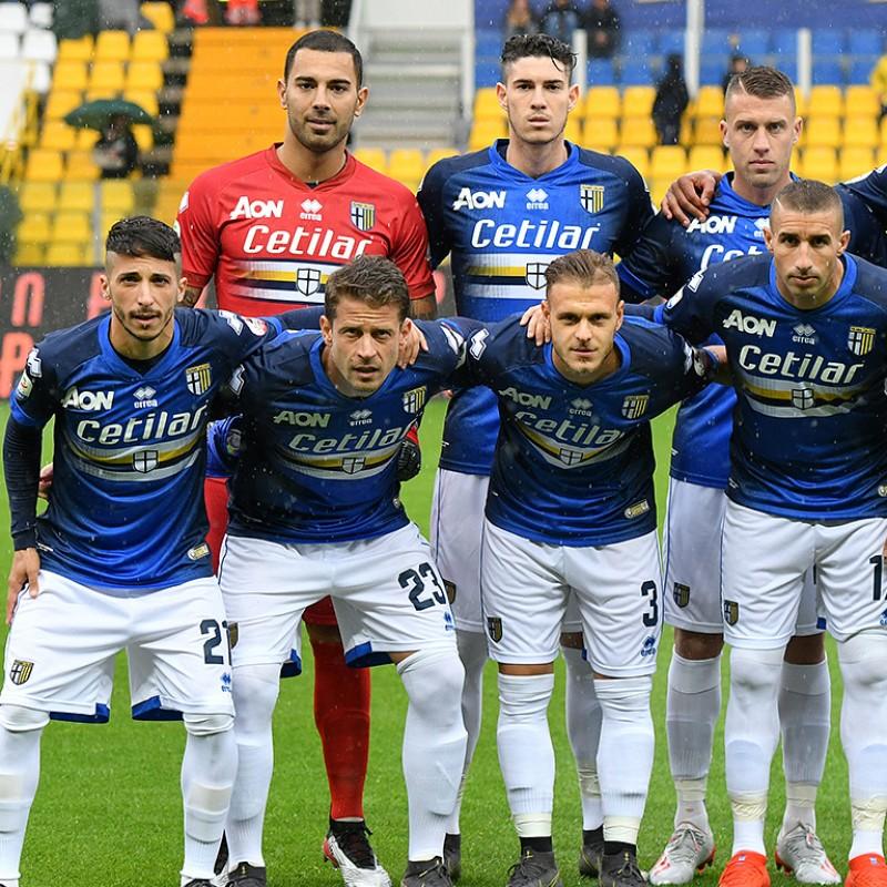 """Brazao's Red """"Blucrociata"""" Match-Issue Shirt, Parma-Sampdoria 2019"""