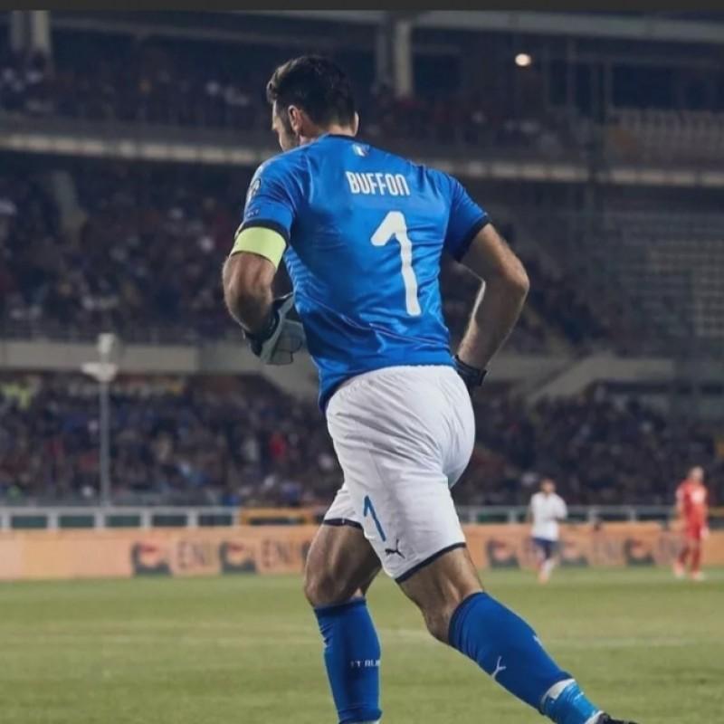 Buffon's Italy World Cup 2018 Qualifier Match Shirt