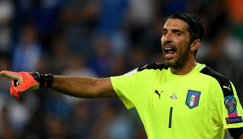Buffon's Signed Match Shirt, Israel-Italy 2016