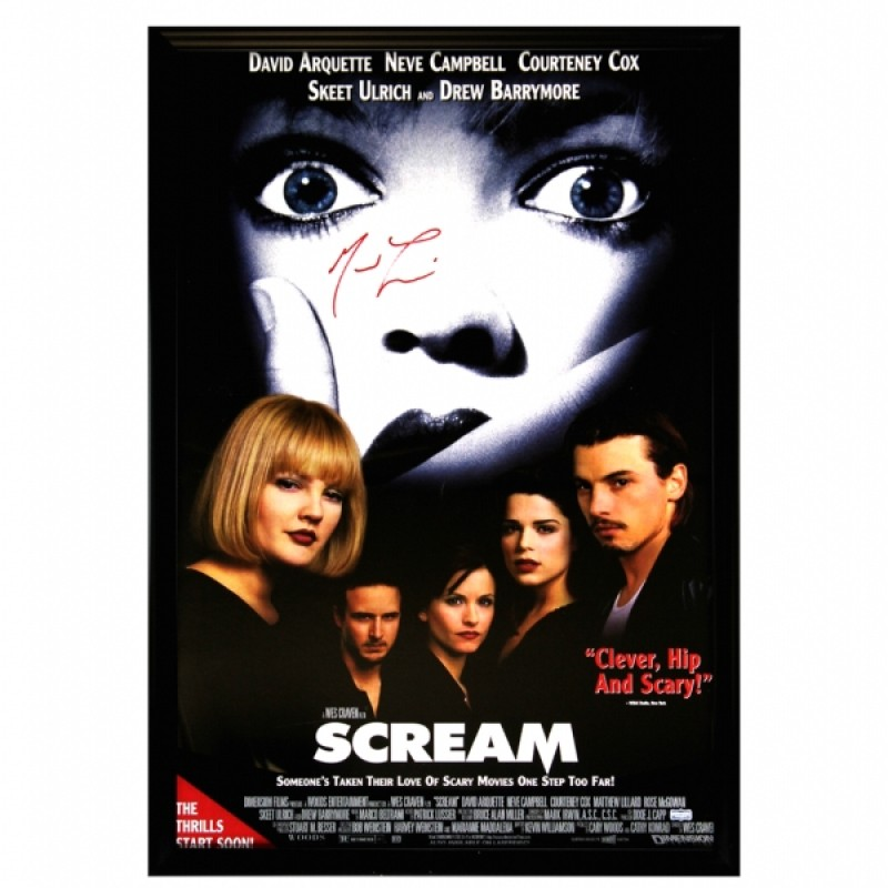 Matthew Lillard Signed Framed Scream Movie Poster