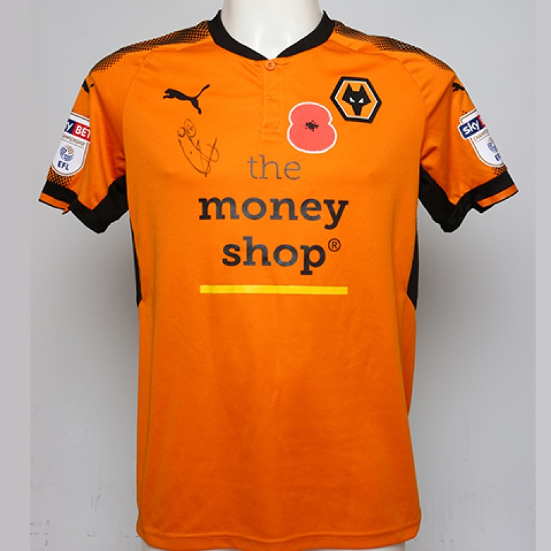 Poppy Shirt Signed by Wolverhampton Wanderers FC's Conor Coady