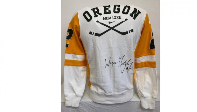 Oregon Ducks Sweatshirt - Signed by Wayne Gretzky