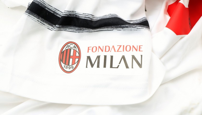 Inzaghi's Worn and Signed Shirt, Liverpool-AC Milan 2019